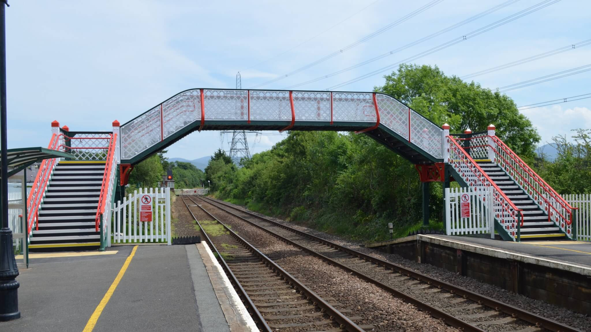Llanfairpwll Station Footbridge